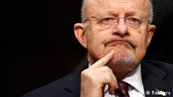 Director of National Intelligence James Clapper testifies before a Senate (Select) Intelligence hearing on World Wide Threats on Capitol Hill in Washington January 31, 2012. REUTERS/Kevin Lamarque (UNITED STATES - Tags: POLITICS MILITARY HEADSHOT)