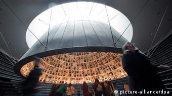 'Hall of Names' in the Yad Vashem Holocaust Memorial EPA/JIM HOLLANDER
