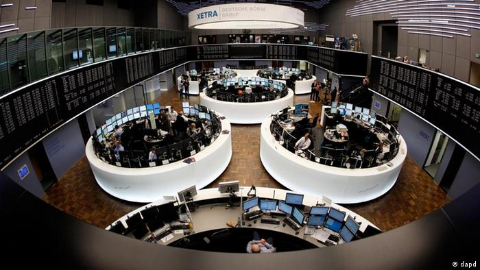 Trading going on at Frankfurt stock exchange