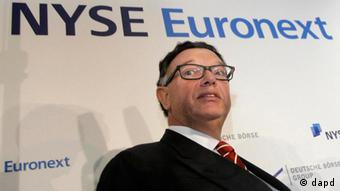 Deutsche Börse CEO, Reto Francioni during a press conference