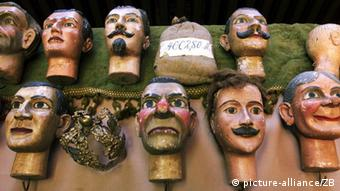 Puppet heads in a Dresden museum collection