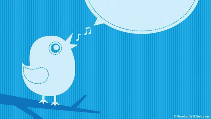 Grafik Vogel mit Sprechblase