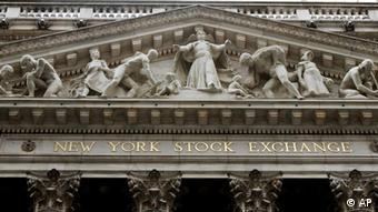 Image of the New York Stock Exchange building, Wednesday, Feb. 1, 2012.