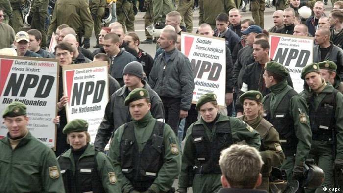 Демонстрація неонацистів в Тюрингії