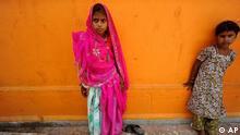 Indien Kinderhochzeit in Rajgarh Braut