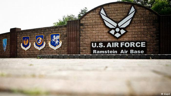 The gates to the US base at Ramstein. Photo: dapd