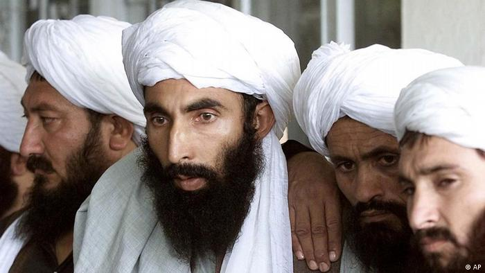 Unidentified Talibans are seen at a news conference in Islamabad, Pakistan in this Sept. 15, 2001 photo. Former Taliban corps commander says the ousted religious militia, Taliban has turned the corner no longer on the run, reorganized, disciplined and getting help from a disgruntled population fed up with the relentless lawlessness of the U.S.-backed interim administration. (AP Photo/B.K.Bangash)