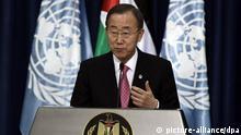 از دیدگاه بان کی مون، دبیرکل سازمان ملل، دولت سوریه مشروعیت خود را از دست داده است