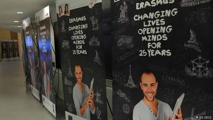 Erasmus 25 - Poster zur Pressekonferenz in Brüssel am 30.01.2012 anlässlich der 25. Jahrestag des Erasmus Programms. Press conference by Androulla Vassiliou (C) EU 2012