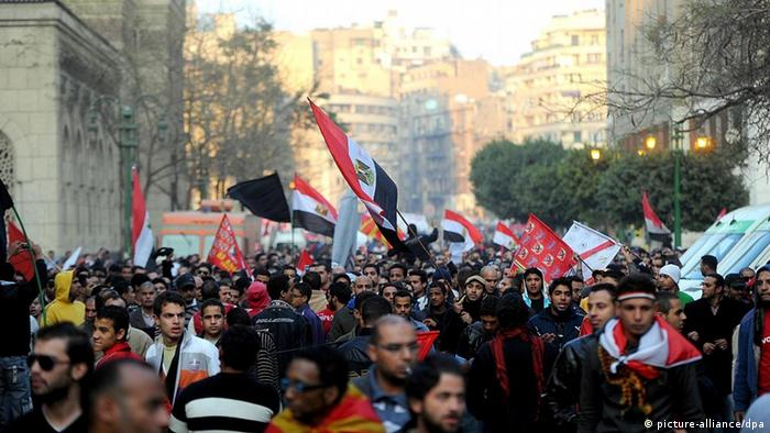 Egyptian protesters march in Cairo