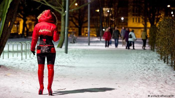 Prostituta em Berlim: muitas vítimas de exploração vêm do Leste Europeu