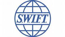 Firmenlogo des belgischen Finanzdienstleisters SWIFT