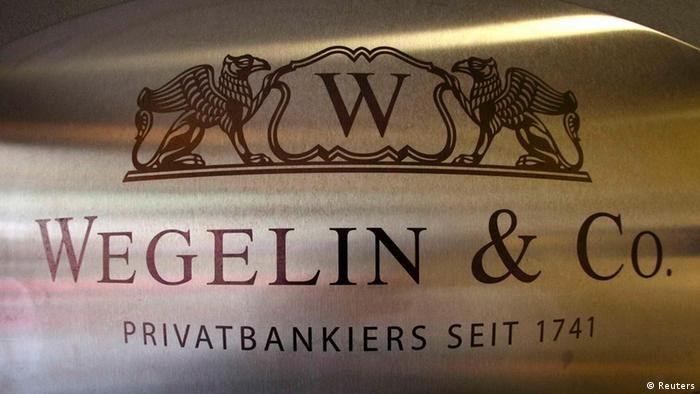A logo of the Swiss bank Wegelin