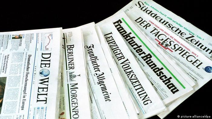 Symbolbild deutsche Presse Presseschau (picture-alliance/dpa)
