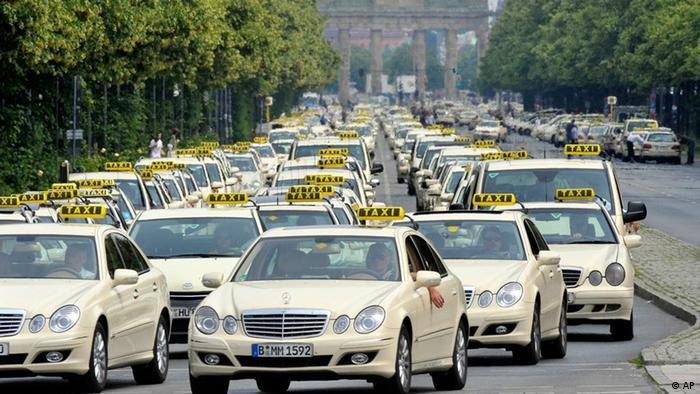 Забастовка таксистов в Берлине летом 2009 года