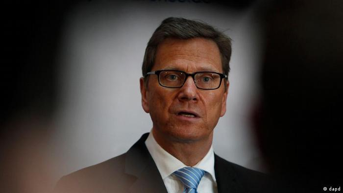 German Foreign Minister Guido Westerwelle delivers a statement during the Conference on Security Policy, on Friday, Feb. 3, 2012 in Munich. Uncertainty over the future of the Middle East and the implications of the financial crisis in Europe loom large as top security and defense officials gather in Munich this weekend. The Munich Security Conference, now in its 48th year, begins Friday with officials from more than 70 countries expected to include U.S. Secretary of State Hillary Rodham Clinton and Defense Secretary Leon Panetta, Russian Foreign Minister Sergey Lavrov, German Defense Minister Thomas de Maiziere, French Foreign Minister Alain Juppe, EU foreign policy chief Catherine Ashton. (Foto:Matthias Schrader/AP/dapd)