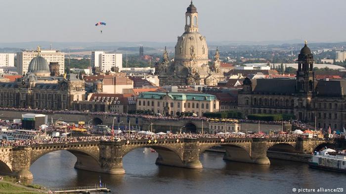 Caneletto Blick Frauenkirche Panorama Dresden