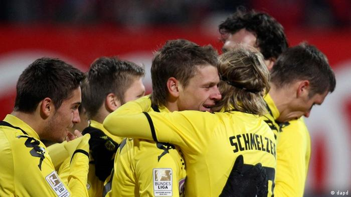 Dortmund's players celebrate