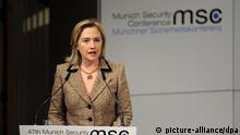 هیلاری کلینتون، وزیر امور خارجه آمریکا در کنفرانس امنیتی مونیخ