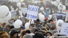 Russland Opposition Demonstration Protest auf den Straßen Moskau