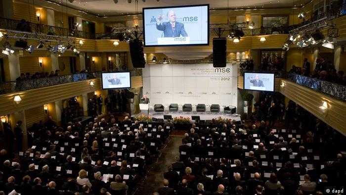 München Sicherheitskonferenz 2012 Tagungsraum (dapd)