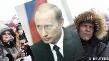 Russland Pro-Putin Demonstration Protest auf den Straßen Moskau