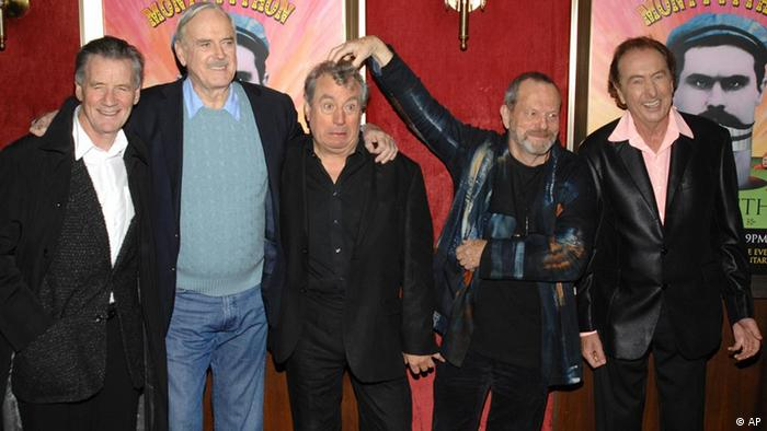 From left, Michael Palin, John Cleese, Terry Jones, Terry Gilliam and Eric Idle
