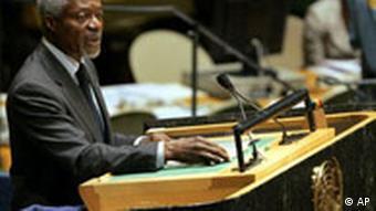 Kofi Annan in der UN
