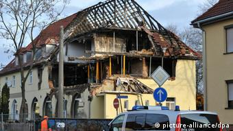The destroyed apartment in Zwickau
