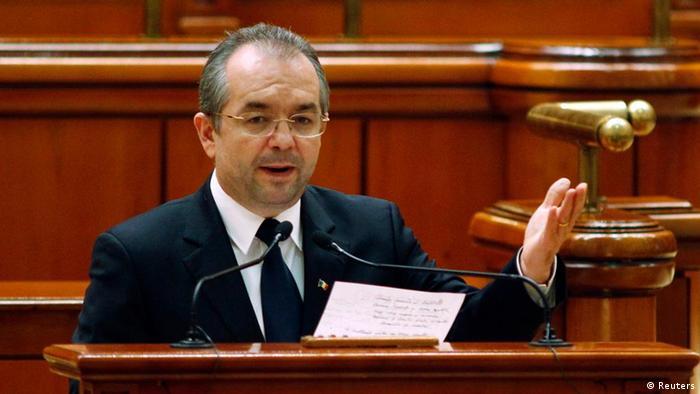 Roumänien Prämierminister Emil Boc zurückgetretten
