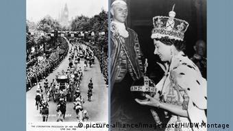 60jähriges Thronjubiläum Elizabeth II Montage Krönungsprozession