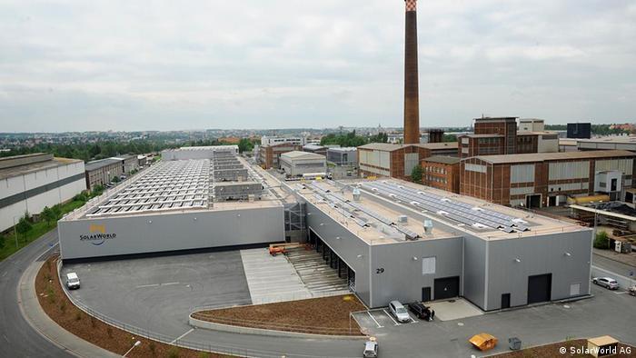 SolarWorld solar plant in Saxony-Anhalt. (Photo: Gero Rueter, DW)