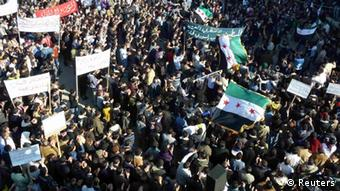 Anti-Assad Demonstration in Hula bei Homs (Foto: Reuters)