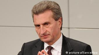 Der EU-Energiekommissar Günther Oettinger (Foto: dpa)