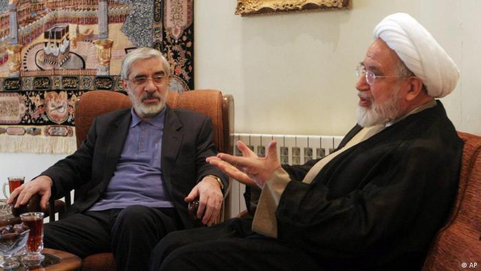 Mir Hossein Mussawi und Mehdi Karroubi