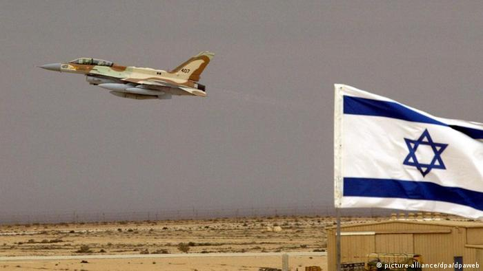 An Israeli Air Force F-16I jet fighter takes off