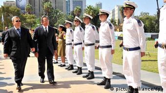 US Secretary of Defense Leon Panetta with by Israeli Defense Minister Ehud Barak