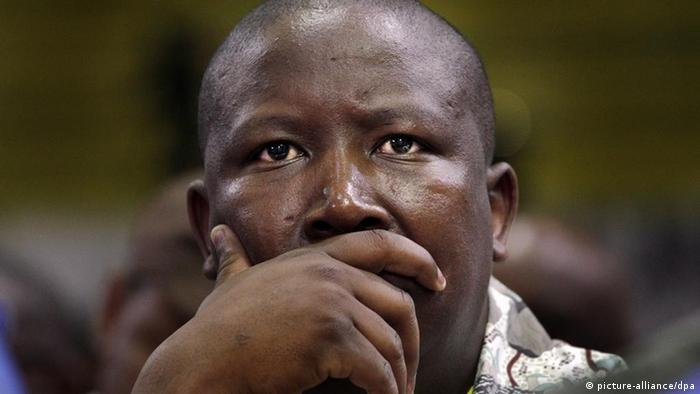 ANC Youth Leage president Malema in a pensive mood.