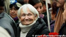 A picture dated 24 July 2010 shows a germany Margot Honecker during the funeral of Former general secretary of the Chilean Communist Party Luis Corvalan in Santiago, Chile. Photo: Marcelo Hernandez/dpa