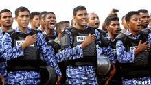 Malediven Armee Soldaten