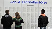 Berufseinsteiger auf der Aus- und Weiterbildungsmesse Chance 2010