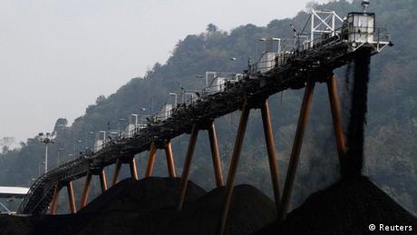 A coal stockpile in Indonesia