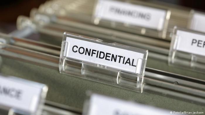 Vertrauliche Akten geheim Akte vertraulich Aktenordner