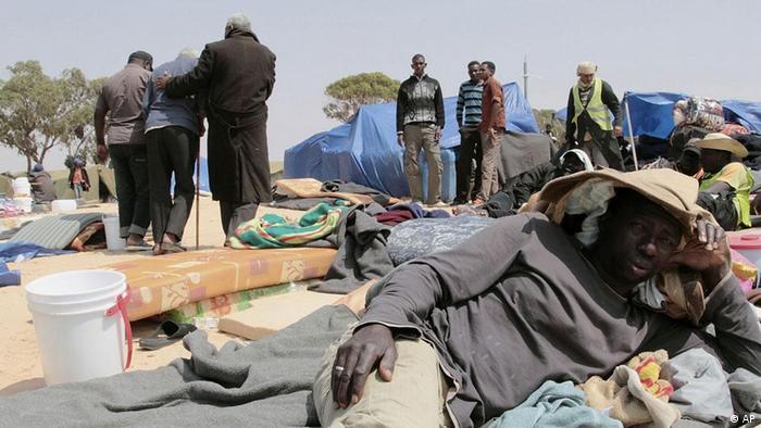 Das tunesische Flüchtlingslager Choucha im Mai 2011 (Bild: dapd)