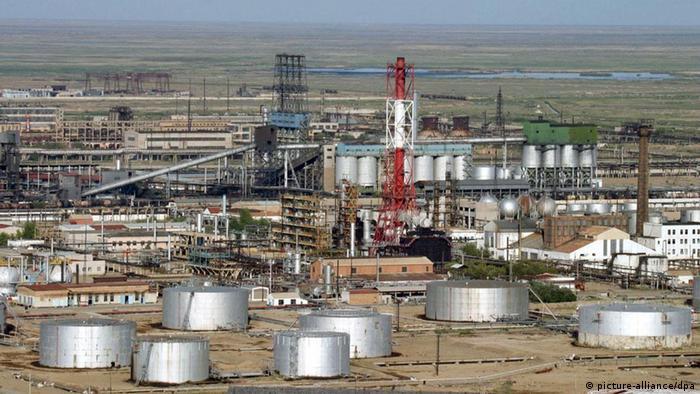 Завод по переработке нефти, Атырауская область Казахстана