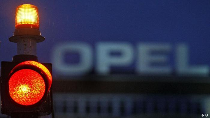 Opel logo in Bochum plant AP Photo/Frank Augstein
