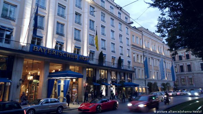 The luxury Hotel Bayerischer Hof on the Promenadenplatz in Munich, the site of the Munich Security Conference