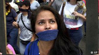 Demonstration für Pressefreiheit Venezuela