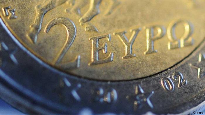 Griechische 2-Euro-Münze (Foto: dapd)