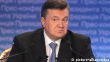 Pressekonferenz Viktor Yanukovych Ukraine